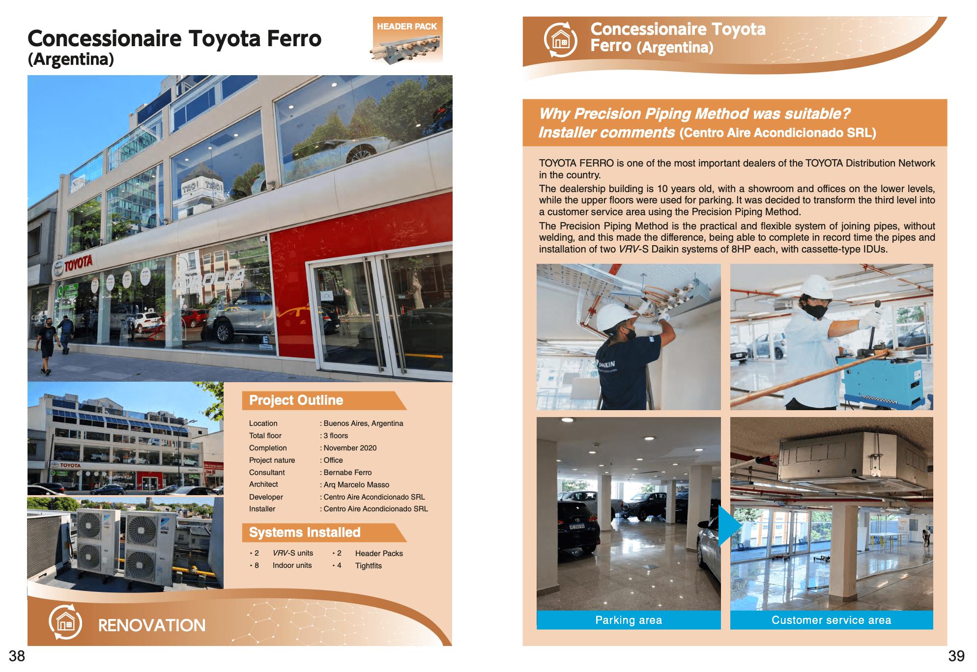Instalación Concesionario Toyota Ferro